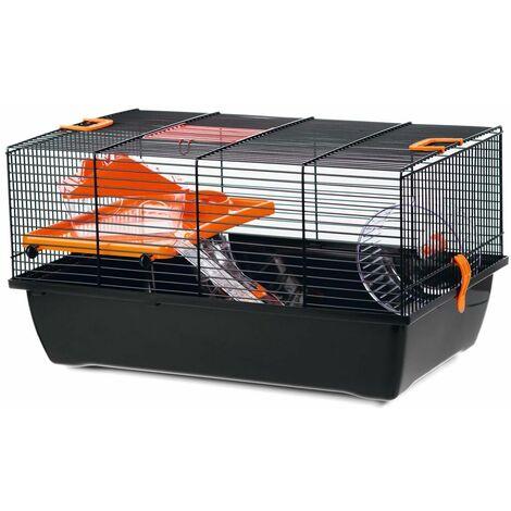 Beezteez Jaula para roedores Pigi 1 metal negro 50x28x25 cm - Nero