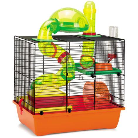 Beezteez Jaula para roedores ROCKY 43x28x38,5 cm - Multicolore