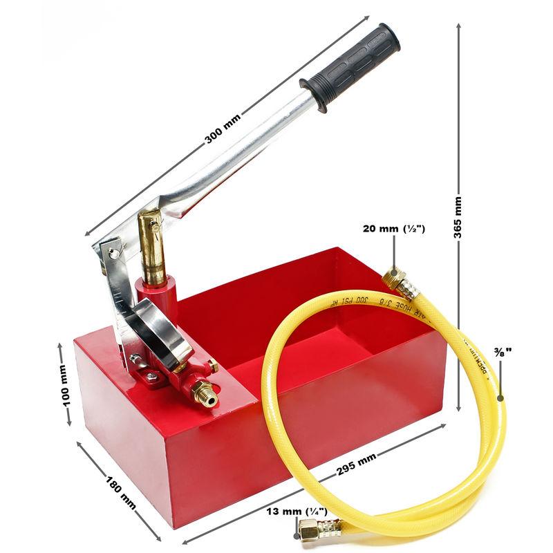 YORKING Bef/üllpumpe 25bar Pr/üfpumpe Testpumpe Heizung Solar Handpumpe Pr/üfwerkzeug