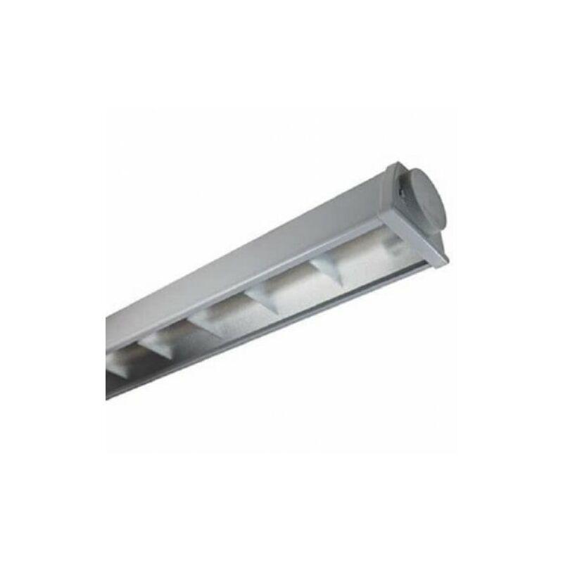 Plafoniera 2x58w Con Emergenza : Beghelli a ed acciaio led w k