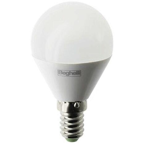 Beghelli de la Lámpara LED de la Esfera de Ópalo E14 3.5 W 4000K Luz Fría 56963