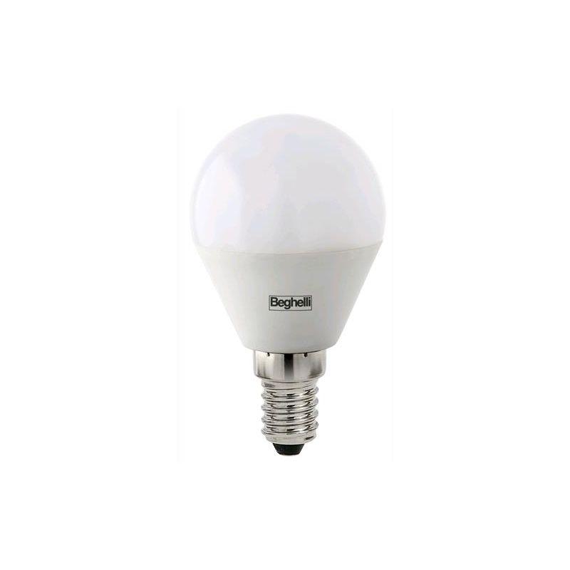 BEGHELLI LAMPADINA LAMPADA LED 56813 SFERA E14 W5 LUCE FREDDA 4000K Conf. 10 PZ