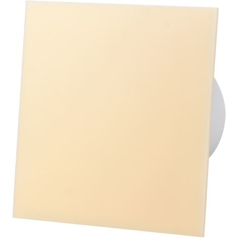 Beige Acrylic Glass Front Panel 100mm Timer Extractor Fan for Wall Ceiling Ventilation