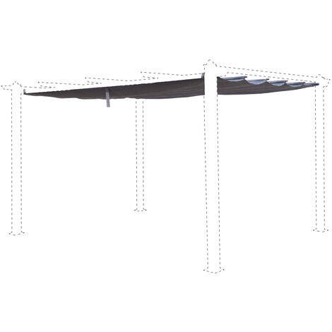 Beige-Brown canopy roof for 3x4m Condate gazebo - pergola replacement canopy, replacement canopy