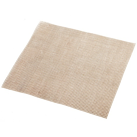 Beige Square Non-Stick BBQ Grilling Mesh Mat
