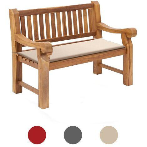 Beige Water Repellent Outdoor Garden Bench Padded Cushion Swing Seat Wooden