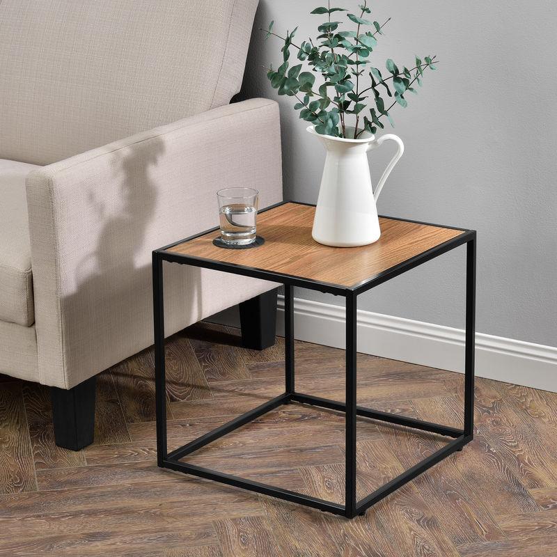 Beistelltisch Couchtisch Holz Metall Tisch Nachttisch Wohnzimmer