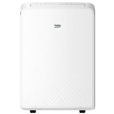 BEKO Climatiseur mobile monobloc 3400W Fonction ventilateur pour surface 37m2 - Blanc