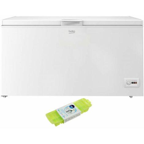 BEKO Congélateur coffre blanc 451L Autonomie 24h MinFrost - Blanc