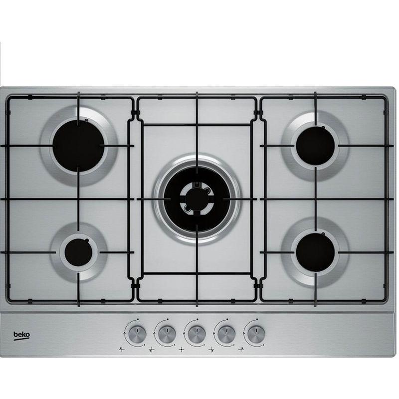 BEKO Piano cottura a gas 5 fuochi incasso 75 cm acciaio inox cucina  HIAW75224SX