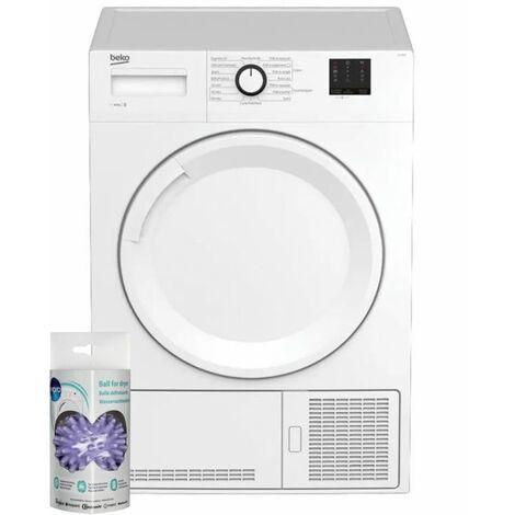 BEKO Sèche-linge frontal condensation 10kg Electronique Tambour 118L Aquawave - Blanc