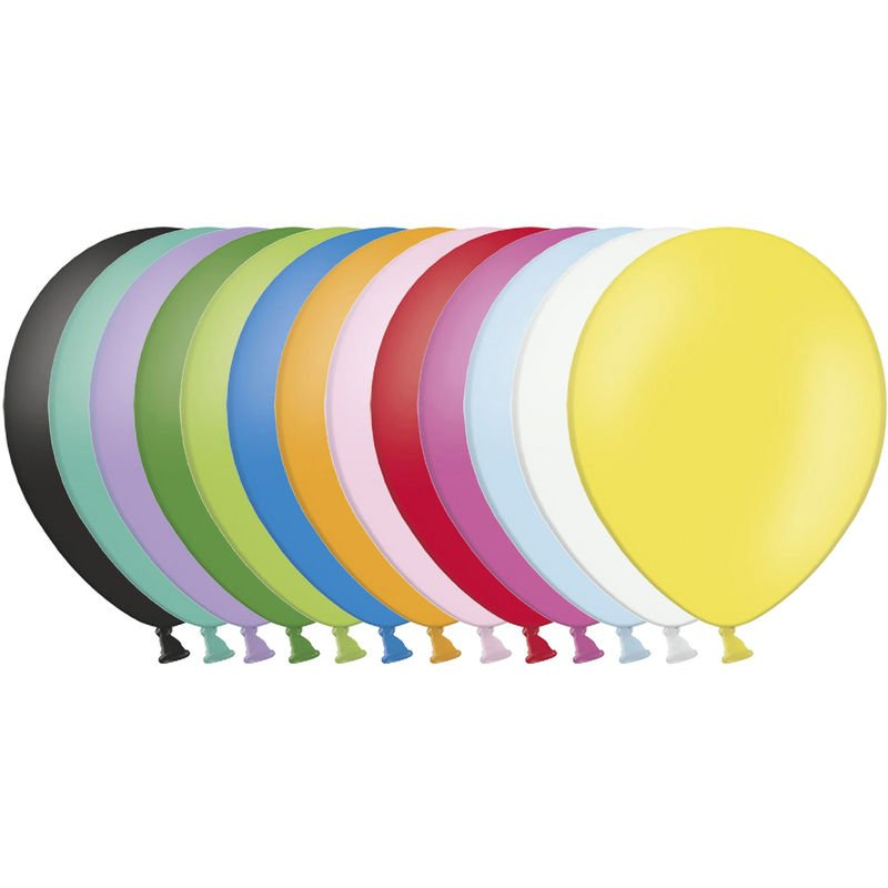 Image of 10.5 Inch Balloons (Pack Of 100) (One Size) (Pastel Assorted) - Belbal