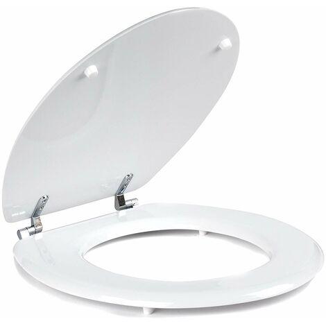 Beldray - Abattant WC - MDF - Blanc - 45,7cm - LA032355, Bois Dense, Blanc, 36 x 43 x 6 cm