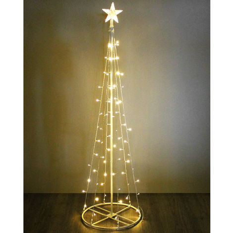 40 X Warmes Weiß Mikro Stern Weihnachten Baum Lichter 195cm Silberdraht Batterie