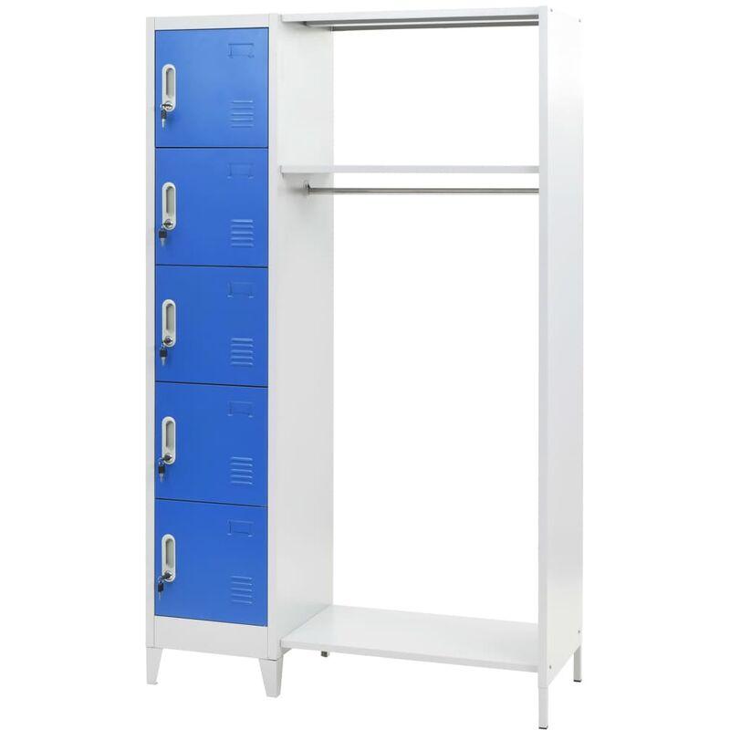 Image of Belgrade 5 Tier Locker by Blue - Ebern Designs