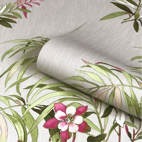 Belgravia Decor Botanique Grey/ Multi Wallpaper