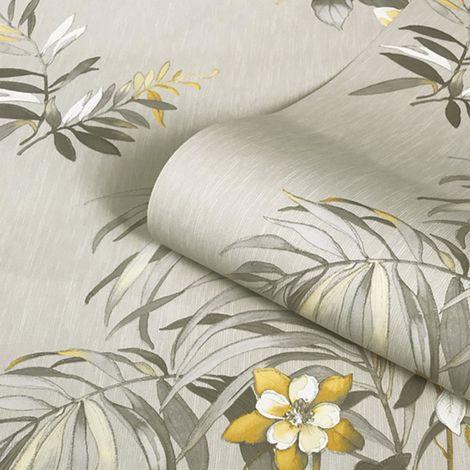 Belgravia Decor Botanique Yellow/ Cream Wallpaper