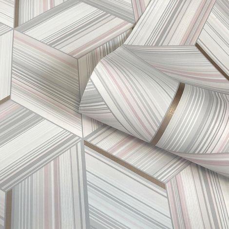 Belgravia Decor Hudson Blush Wallpaper