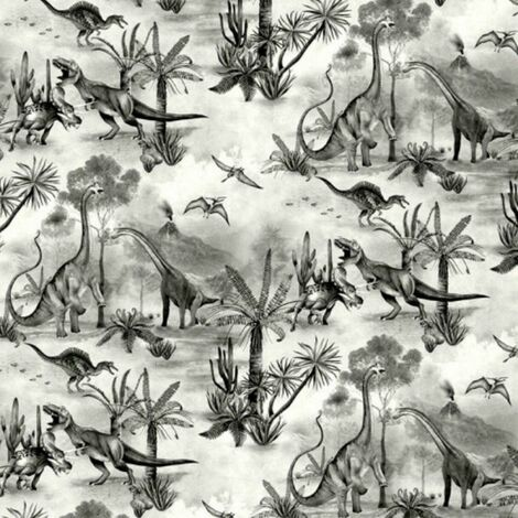 Belgravia Dino Kingdom Dinosaur Tropical Grey Children's Kids Wallpaper