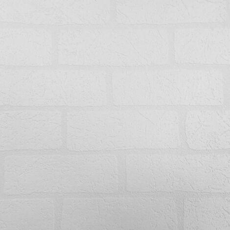 Belgravia Richmond Brick Pattern Paintable Embossed Vinyl Wallpaper 5831