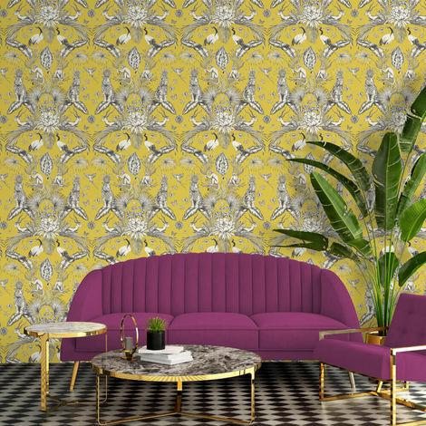 Belgravia Wallpaper 2001 Menagerie Yellow