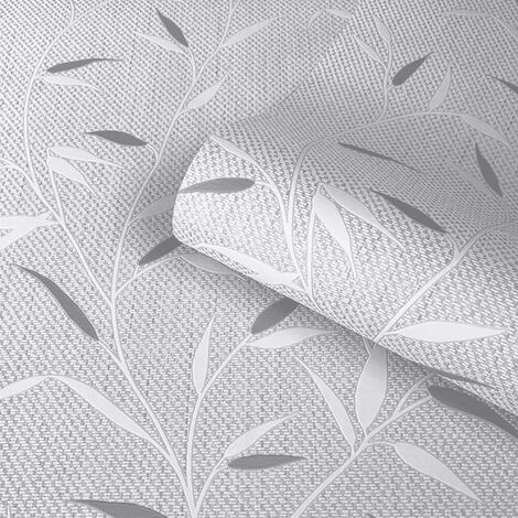 Belgravia Wallpaper Amelie Leaf Grey 3002