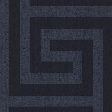 Belgravia Wallpaper Giorgio Greek Key Dark Blue GB8110
