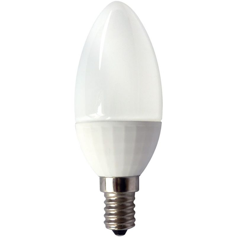 Image of 05056 4W LED 35mm Non - Dimmable Candle Opal 2700K Extra Warm White Light Colour Temperature - B15d - Bell