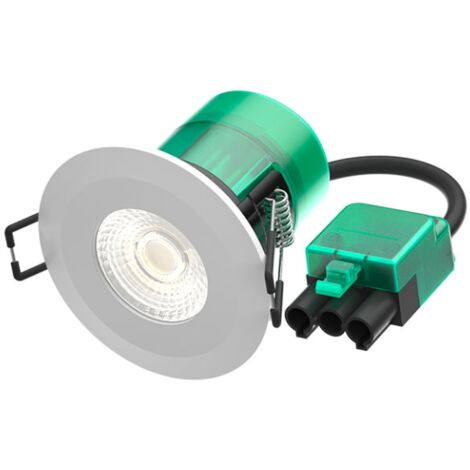 Bell 6W Firestay LED Integrated Fixed Downlight, Incl White & Satin Bezel - 4000K - Plug & Play Fitting - BL10501