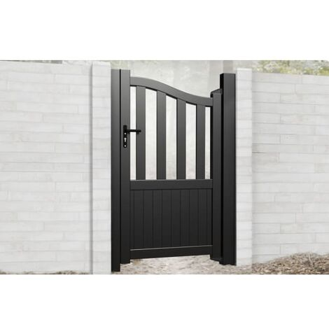 Bell Curved Top with Short Infill Pedestrian Gate