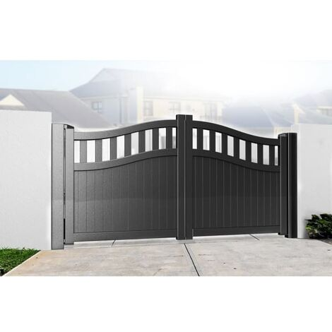 Bell Curved Top with Tall Infill Double Driveway Gate