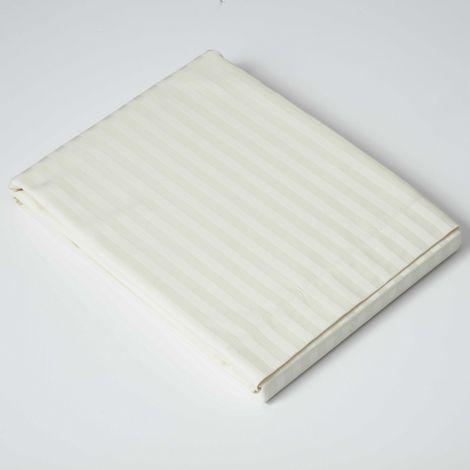 Belledorm 540 Thread Count Satin Stripe Flat Sheet