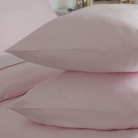 Belledorm Brushed Cotton Housewife Pillowcase (Pair)
