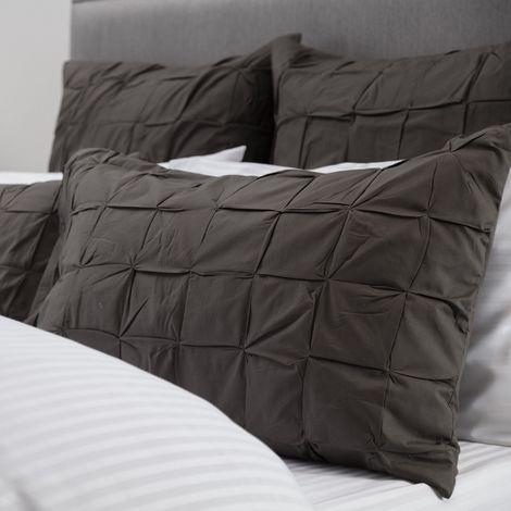 Belledorm Darley Housewife Pillowsham (One Size) (Charcoal Grey)