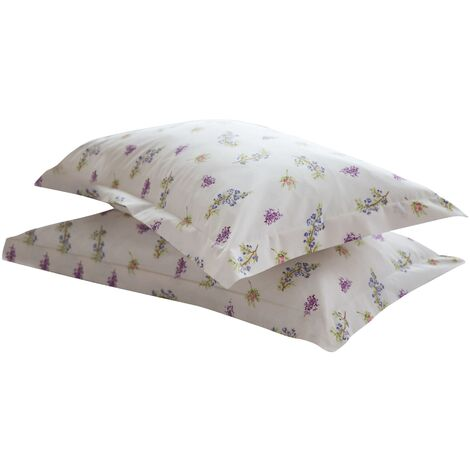 Belledorm Delphine Oxford Pillowcase (1 Pair) (51cm X 76cm) (Multicoloured)