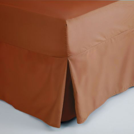 Belledorm Easycare Percale Fitted Valance (Double) (Terracotta)