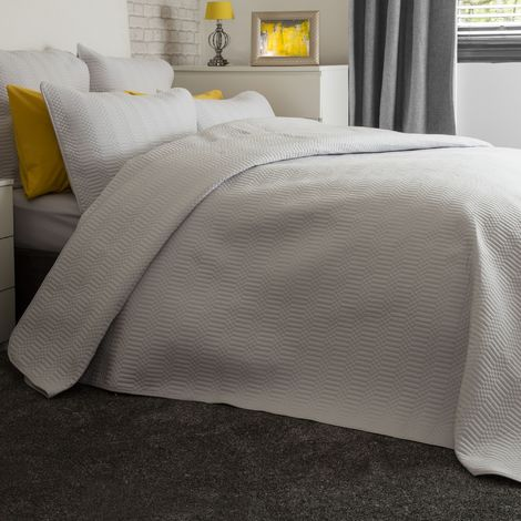 Belledorm Stratford Bedspread (One Size) (Grey)