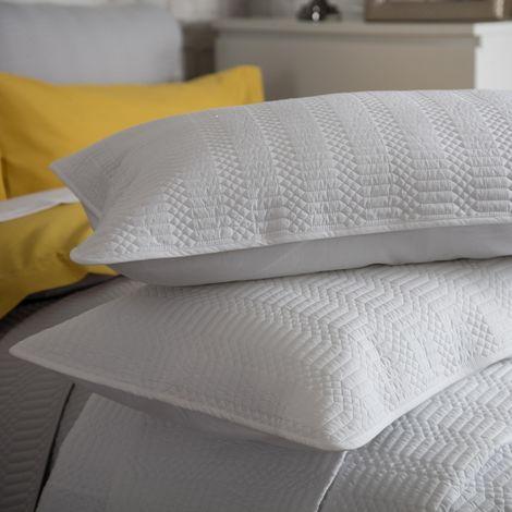 Belledorm Stratford Continental Pillowcase (One Size) (Grey)