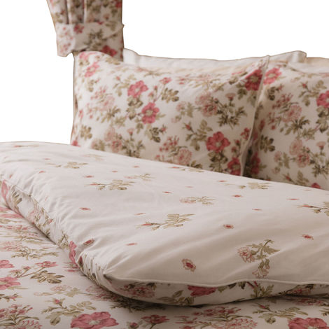 Belledorm Wild Rose Pillowcase Pair (One Size) (Ivory)