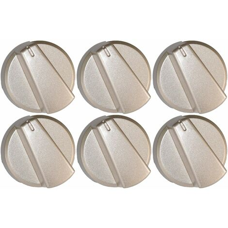 """main image of """"Belling Compatible Silver Oven Cooker Hob Control Knob Pack of 6"""""""