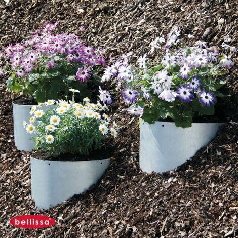 bellissa Hang Pflanzschale Ø 40 H 23 cm verzinkt Pflanz Schale Blumen Kräuter