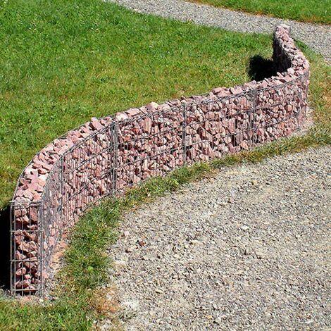 bellissa Mauer Gabione 232x40cm erweiterbar formbar Steingabione Gitter Stein