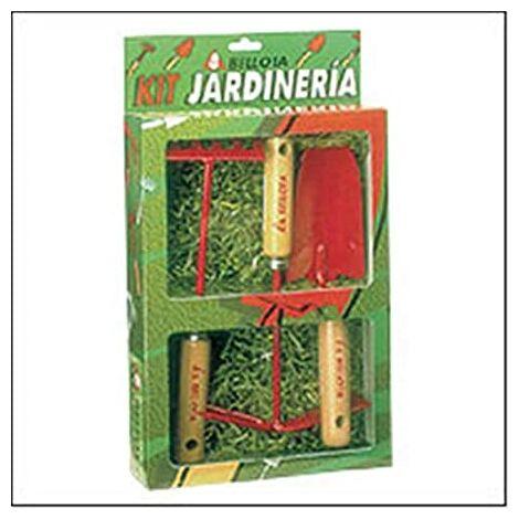BELLOTA Kit de Herramientas para Jardinería (Transplantador, Horquilla y Rastrillo)