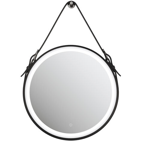 Belt Decorative Round Illuminated 600x600mm LED Light Bathroom Mirror Makeup Mirror with Sensor Touch control, Dustproof & Anti-fog,Cool White Light