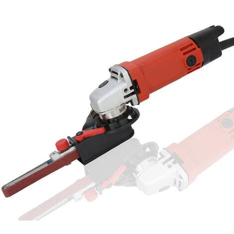 Belt sander for 115/125 angle grinders + 3 sanding belts