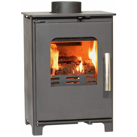 Beltane Brue Multi Fuel Freestanding Stove Glass Window 4kW Black Fire Eco Defra