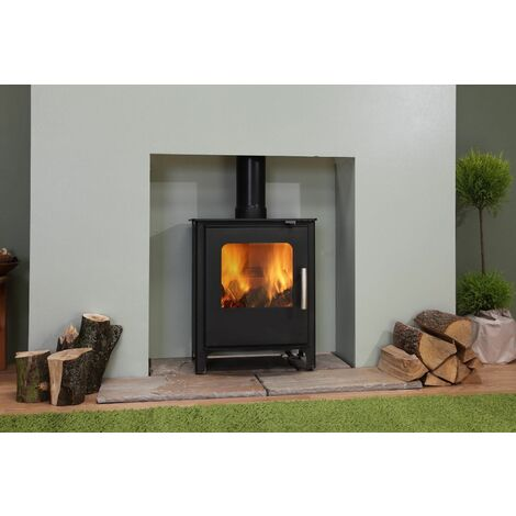 Beltane Chew Multi Fuel Large Stove Glass Window 4.6kW Black Fire Eco & Defra