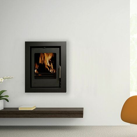 Beltane Holford Multi Fuel Inset Stove 3 Sided Frame 4.6kW Black Fire Eco Defra