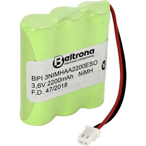 Beltrona Solarleuchten-Pack 901013 Akkupack 3x Mignon (AA) Stecker NiMH 3.6V 2000 mAh C639571