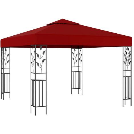 Belvedere 3x3 m Rouge bordeaux